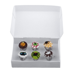 Six Creepy Cupcakes and Bakery Box