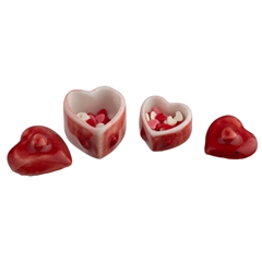 Heart Dishes and Candy