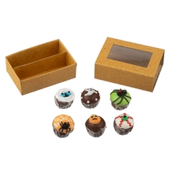 Halloween Cupcakes in Bakery Box