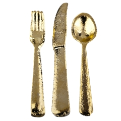 Three Piece Gold Place Setting