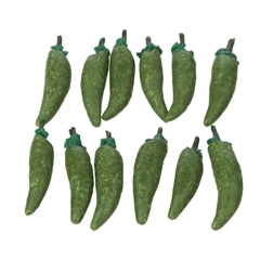 12 Green Chili Peppers