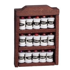 Spice Rack with Spices