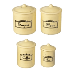 Four Yellow Canisters