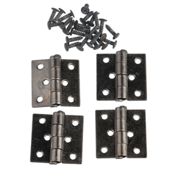 Four Gunmetal Butt Hinges with Nails