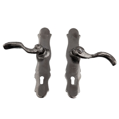 Pair of Gunmetal French Door Handles