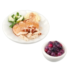 Turkey Dinner Plate with Side of Cranberries