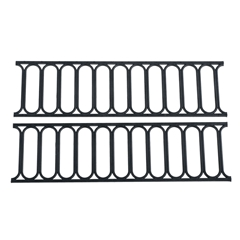 "2-Pc. Black ""Iron Works"" Modern Fencing Set"