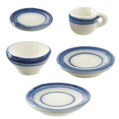 Blue Symmetry 5-Pc. Place Setting
