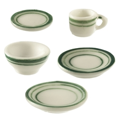 Green Symmetry 5-Pc. Place Setting