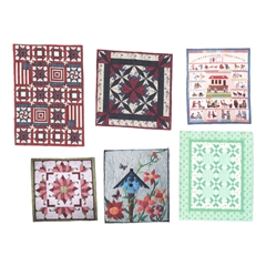 Sheet of Six Assorted Quilts