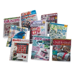 Sheet of Fourteen Assorted Quilting Magazines