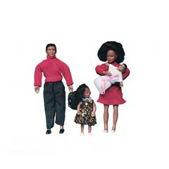 African American Dollhouse Family