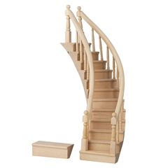 Assembled Left-Curve Staircase