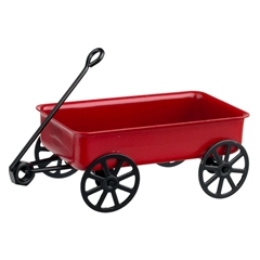 Large Red Metal Wagon