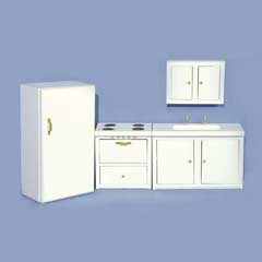 4-Pc. White Kitchen Set