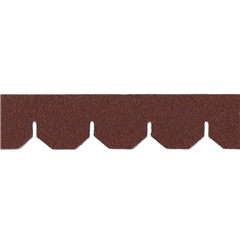 Red Asphalt Hexagon Shingle Strips