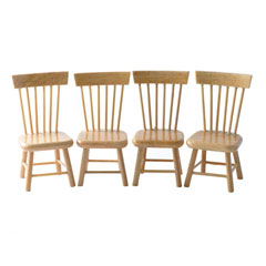 Set of Four Oak Chairs