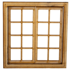 8-Light Double Casement Window