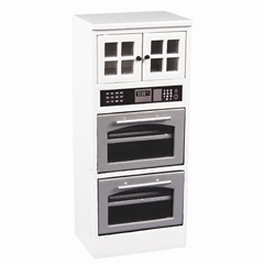 White Double Oven Cabinet