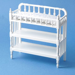 White Victorian Changing Table
