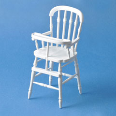 White Victorian High Chair