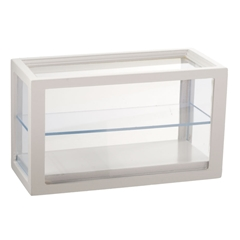 White Rectangular Display Cabinet