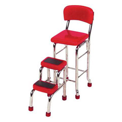 Red Kitchen Step Stool