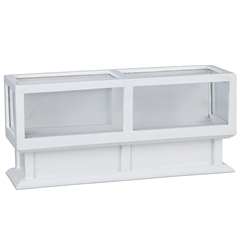 White Display Case-Wide