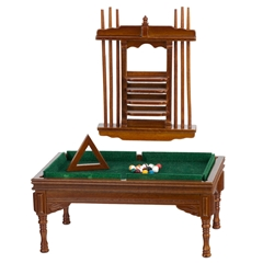 Antique Pool Table Set