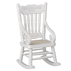 White Wooden Rocker