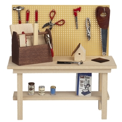 Workbench with Workshop Accessories