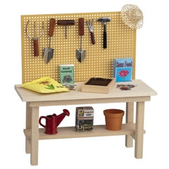 Potting Bench with Gardening Accessories