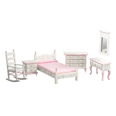 6-Pc. Pink Floral Single Bedroom Set