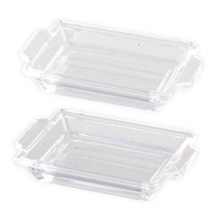 Two Clear Casserole Dishes
