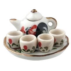 7-Pc. Rooster Tea Set