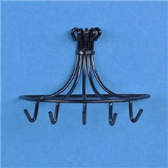 Black Wall Hung Pot Rack