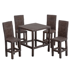 5-Pc. Wicker High-Top Dining Set