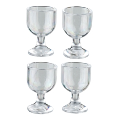 Four Wine or Water Goblets