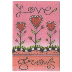 """Love Grows"" Flag for Garden Stand"