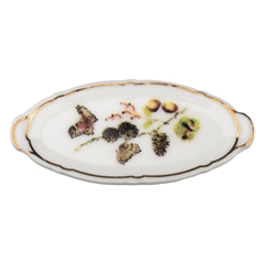 Pinecone and Butterfly Platter Fève