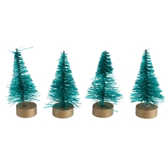 Four Green Mini Trees
