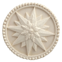 Beaded Compass Star Medallion