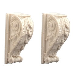 Pair of Scrolled Acanthus Leaf Brackets