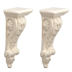 Pair of Acanthus Leaf Corbel Brackets